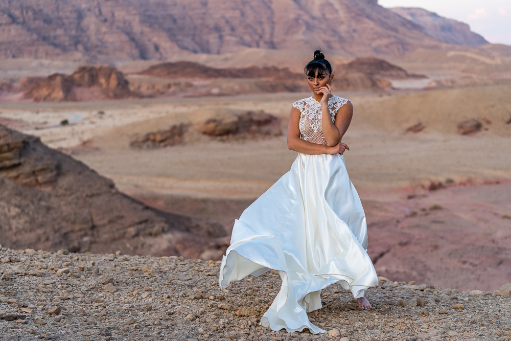 Bride in the desert