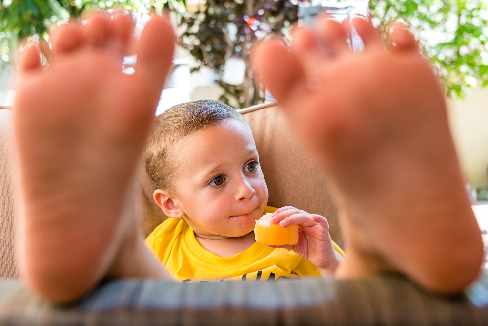 Child through feet